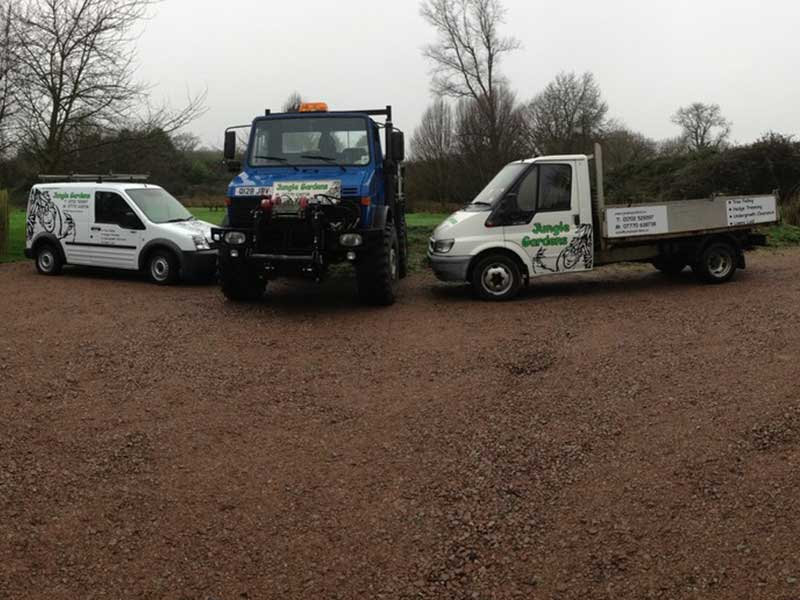 Landscaping Gardening Company Vehicles